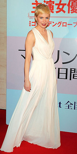 Michelle Williams in Alexander McQueen