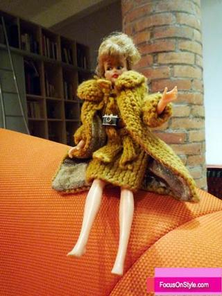 My mom stayed up all night one night when I was sick and made this snazzy outfit for my Barbie!