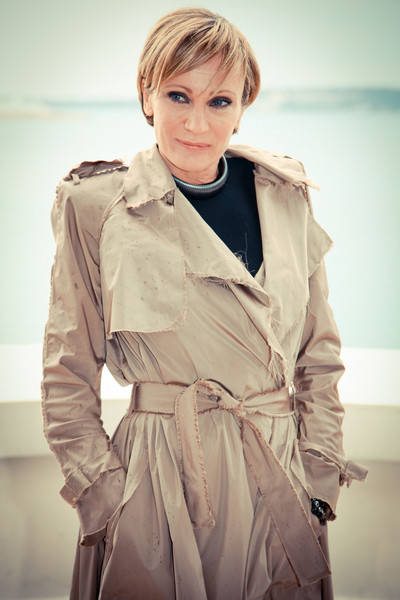 Age Appropriate French Chic Trench Coat Patricia Kaas