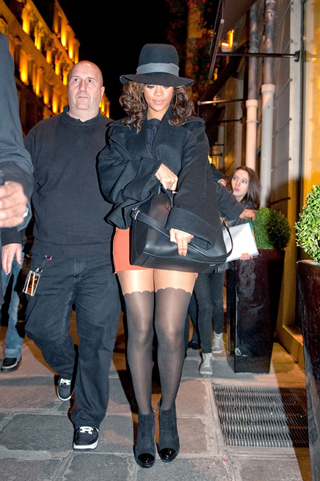 Celebrity Sightings In Paris - October 22, 2011