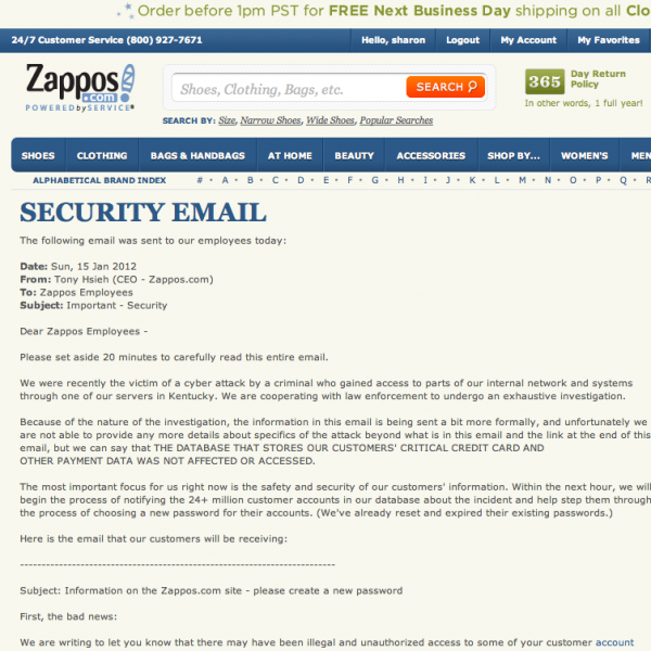 http://www.zappos.com/securityemail