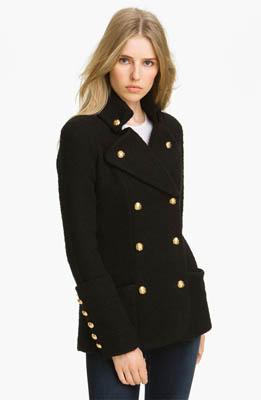 Smythe Double Breasted Boucle Coat