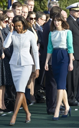Michelle Obama and Samantha Cameron Spring Style