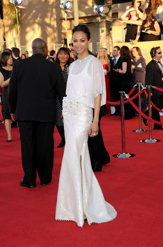 Zoe Saldana in Givenchy Haute Couture by Riccardo Tisci