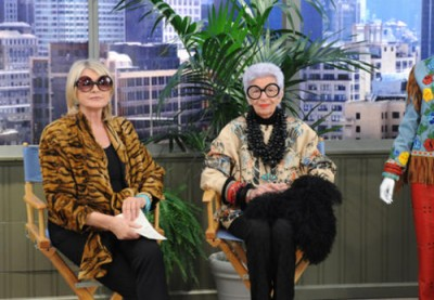 Martha Stewart and Iris Apfel