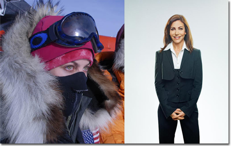 Alison Levine completed the Adventure Grand Slam, May 2010 (Climbed the highest peak on each continent and skied to both Poles) and can work a Dolce & Gabbana workwear suit too!