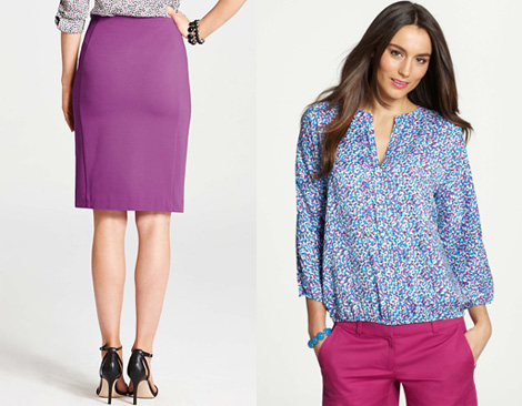 Look for pieces that do double duty for a back to work mom- like these from Ann Taylor