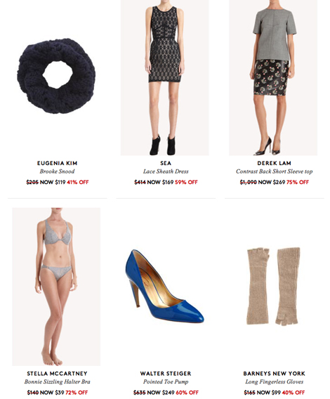 Barney's warehouse sale online