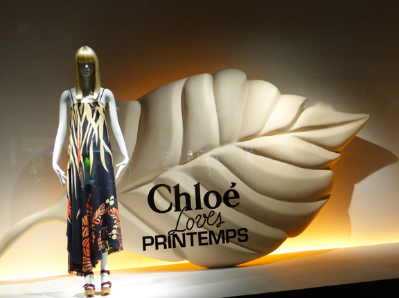paris shopping printemps props the chlo edition anniversaire boutique. Black Bedroom Furniture Sets. Home Design Ideas