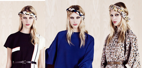 Head scarves from the Fendi Resort 2014 collection