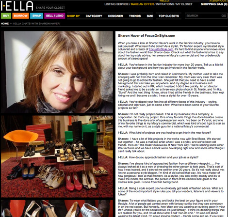 Sharon Haver interviewed on i-Ella