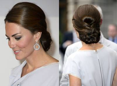 Tremendous Kate Middleton Hair How To Style Updo Focusonstyle Com Short Hairstyles For Black Women Fulllsitofus