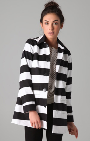 Alice + Olivia Constance Striped Coat at Shopbop