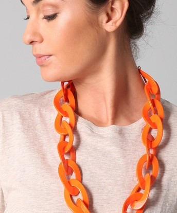 Kenneth Jay Lane Coral Link Necklace at Shopbop