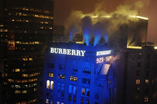 Burberry Sign Lighting in New York City