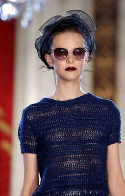 JASON WU SUNGLASS | Seberg,  updated cat-eye, slightly rounded with metal brow detail.