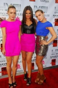 Naven twins Kym and Alexis McClay with Khloe Kardashian