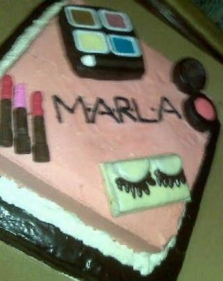 MAC inspired birthday cake for a make-up junkie.