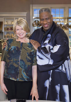 Martha Stewart and Andre Leon Talley