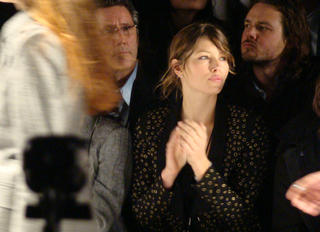 Jessica Biel front row at beau JT's William Rast fashion show