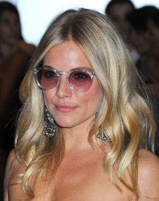 I'll Have What She's Having: Sienna Miller in Clear, Round Sunglasses