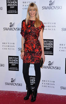 Claudia Schiffer at the British Fashion Awards 2009