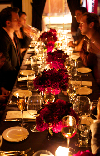 Cartier dinner at the Lion in New York