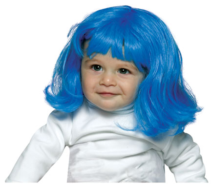 Blue Baby Wig