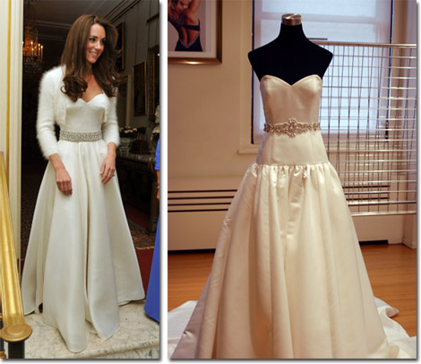 The Second Wedding Dress That Kate Wore For Reception And Faviana Version