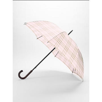 Burberry Umbrella Check Walker with Wooden Handle