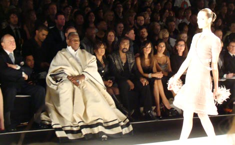 Andre Leon Talley at the Spring 2010 Chado Ralph Rucci show