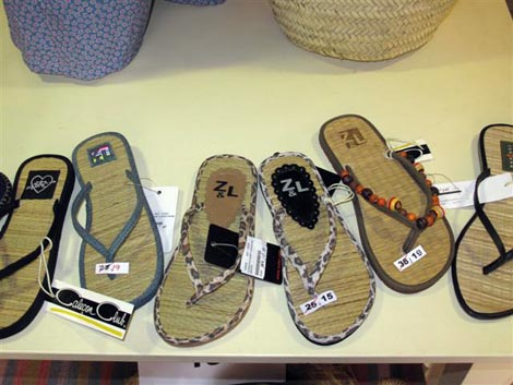 Simple beach sandals with a flair