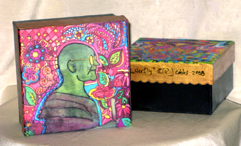 Pop Gandhi, Union Square, NY Silk Hand-painted Papier Mache Box