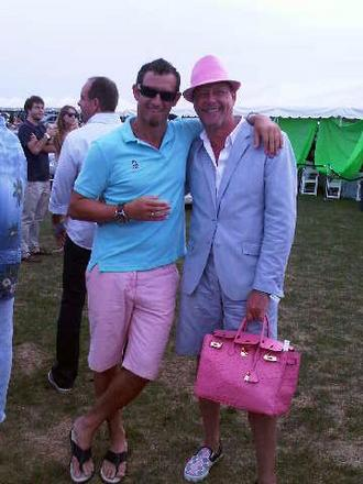 Men In Pink: Rob and Brad