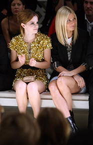 Emma Watson and Gwyneth Paltrow front row