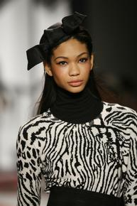 Animal print knits at DKNY