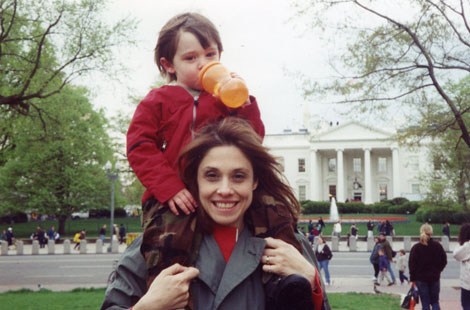 On one of our family trips to Washington DC.
