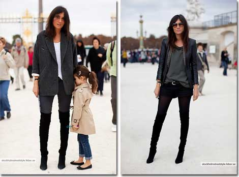 Even her little girl masters the classic French Chic elan