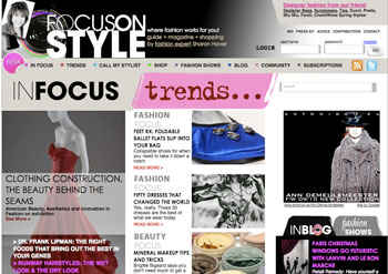 FocusOnStyle.com- in Beta today. Art Direction, Vincent Gagliostro.