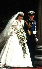 Diana, The Princess of Wales leave St Paul's Cathedral after her wedding to the Prince of Wales, 29th July 1981