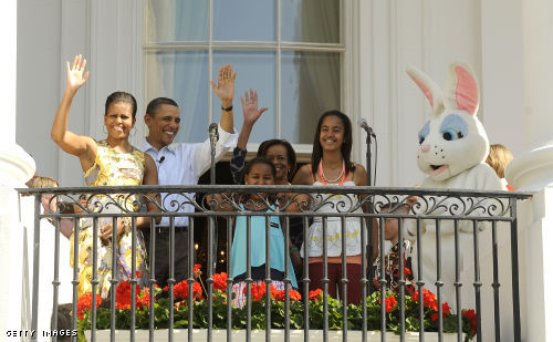 The Obama family at yesterday's event.