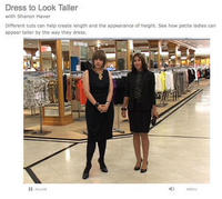 Petite Fashion Tips to Look Taller from the Sharon Haver for About.com at Lord & Taylor New York Petite Video Series