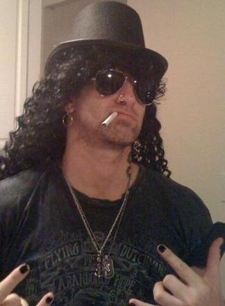Rob Siegel, the metrosexual preener, dressed as Slash from Guns 'N Roses