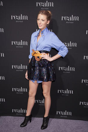 Blake Lively at the Realm boutique opening