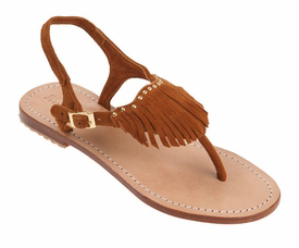 Mystique T-Strap Sandal with Fringe