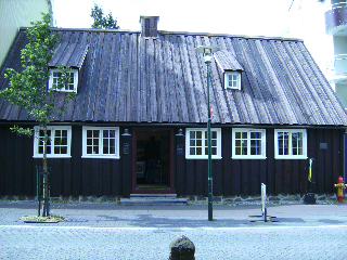 Kraum at Aolstraeti 10, the oldest house in Reykjavik