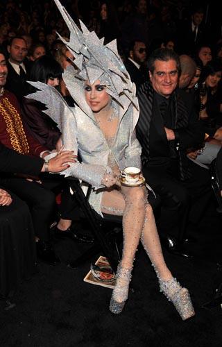 Lady Gaga and Giorgio Armani Prive at the Grammy's, a ...