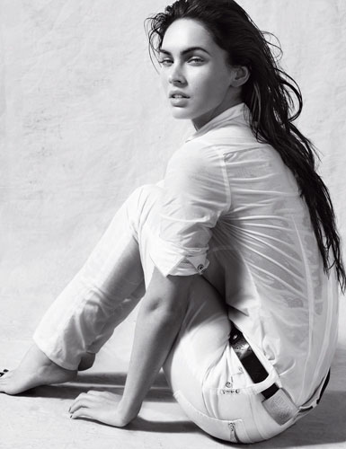 Megan Fox in Armani Jeans ad campaign for spring / summer 2010