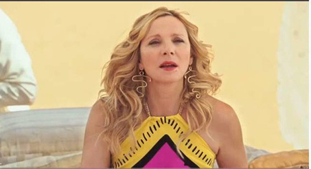 "Kim Cattrall as Samantha in ""Sex and the City 2"" wearing Cleopatra earrings from Wendy Brandes"