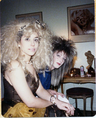 Sharon and Brad Halloween 1985- At least that was a good excuse for the wigs!